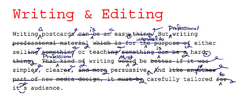 Writing and Editing