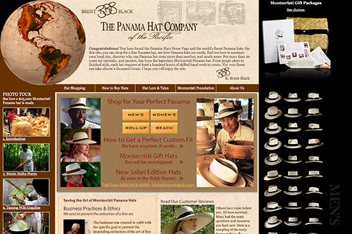 Brent Black Panama Hats — Home