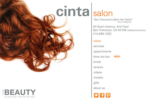 Cinta Salon Home Page (v2)