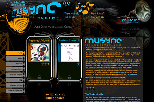 Musync Home Page